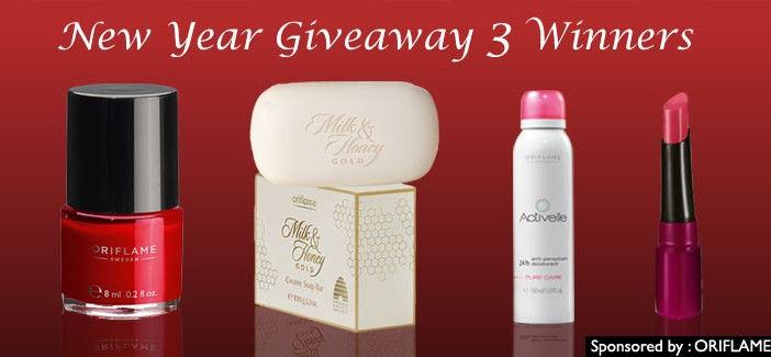 New Year Oriflame Giveaway 3 Winners