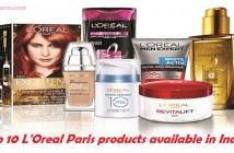 Top 10 LOreal Paris products available in India