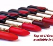 Top 10 LOreal lipsticks available in IndiaTop 10 LOreal lipsticks available in India