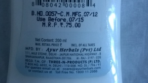 AYUR HERBAL DEEP PORE CLEANSING MILK