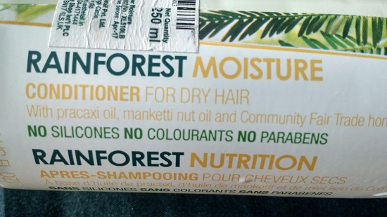 The Body Shop Rainforest Nutrition Conditioner