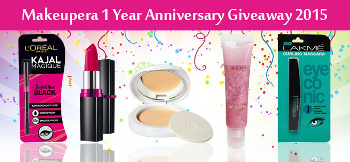 MakeupEra 1 Year Anniversary Giveaway 4 Winners