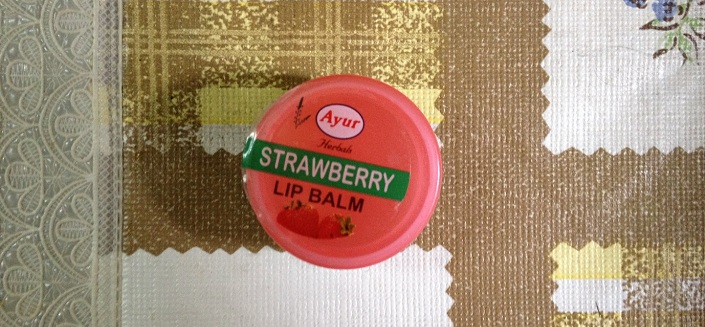 Ayur Herbals Strawberry Lip Balm Review