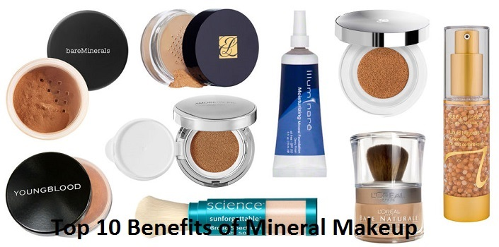 Top 10 Benefits of Mineral Makeup